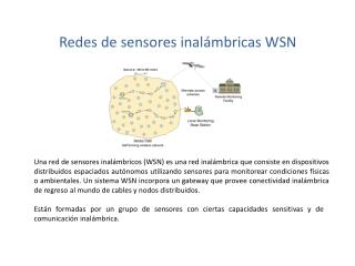 Redes  de sensores inalámbricas  WSN