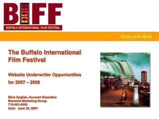 The Buffalo International  Film Festival Website Underwriter Opportunities