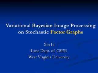 Variational Bayesian Image Processing on Stochastic Factor Graphs