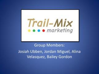 Group Members:  Josiah  Ubben , Jordan Miguel, Alina Velasquez, Bailey Gordon