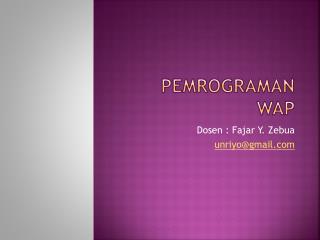 Pemrograman wap