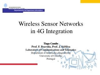 Laboratory of Communication and Telematics  IP in WSN MAR Model