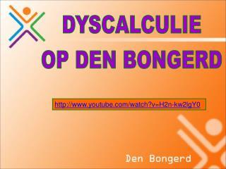 DYSCALCULIE OP DEN BONGERD