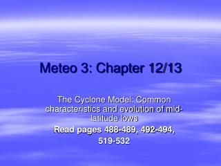 Meteo 3: Chapter 12/13
