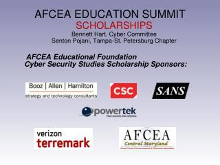 AFCEA Educational Foundation Cyber Security Studies Scholarship Sponsors: