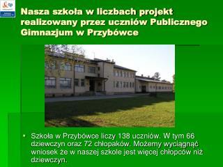 Nasza szkoła w liczbach projekt realizowany przez uczniów Publicznego Gimnazjum w Przybówce