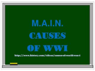 M.A.I.N. CAUSES  OF WWI history/videos/causes-of-world-war-i