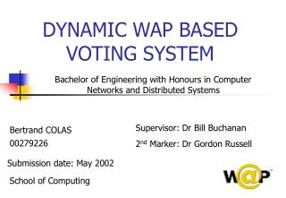 DYNAMIC WAP BASED VOTING SYSTEM