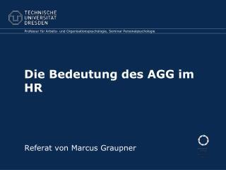 Die Bedeutung des AGG im HR