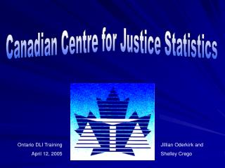 Canadian Centre for Justice Statistics
