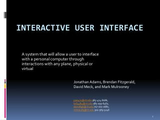 Interactive User  Interface