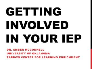 Getting involved in your  IEP