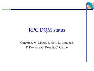 RPC DQM status