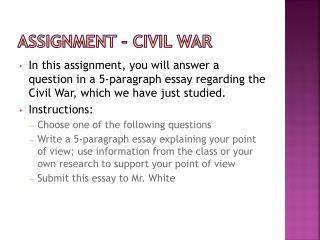 Assignment   Civil War