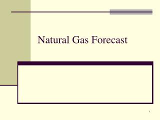 Natural Gas Forecast