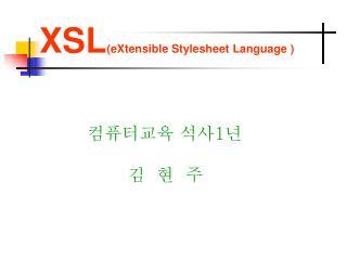 XSL (eXtensible Stylesheet Language )