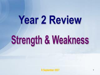 Year 2 Review