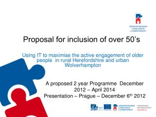 Proposal for inclusion of over 50's