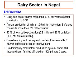 Dairy Sector in Nepal