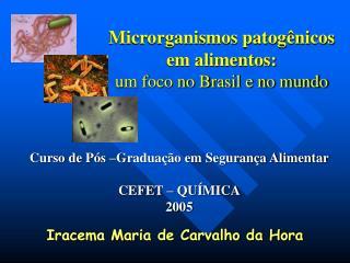 Microrganismos patogênicos em alimentos: um foco no Brasil e no mundo