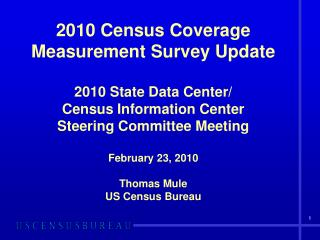 CCM – Census Coverage Measurement
