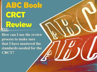 ABC Book CRCT Review