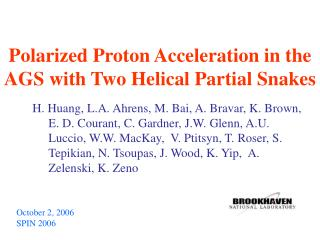 Polarized Proton Acceleration in the AGS with Two Helical Partial Snakes