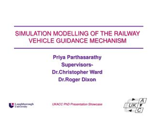 SIMULATION MODELLING OF THE RAILWAY VEHICLE GUIDANCE MECHANISM