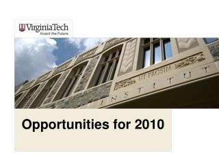 Opportunities for 2010