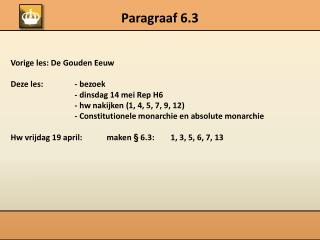 Paragraaf 6.3