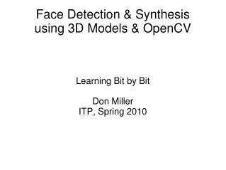 Face Detection  Synthesis using 3D Models  OpenCV