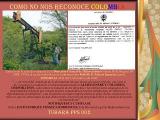 COMO NO NOS RECONOCE  COLO MB IA