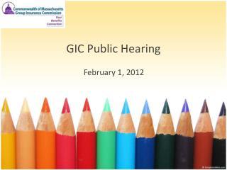 GIC Public Hearing