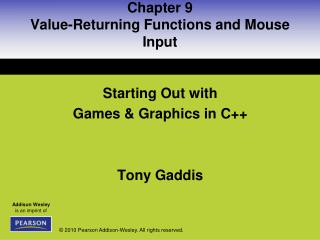 Chapter 9 Value-Returning Functions and Mouse Input