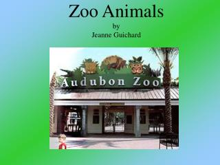 Zoo Animals by Jeanne Guichard