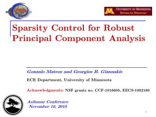 Sparsity Control for Robust Principal Component Analysis