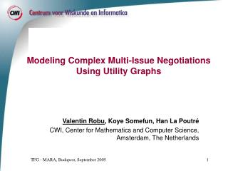 Modeling Complex Multi-Issue Negotiations Using Utility Graphs