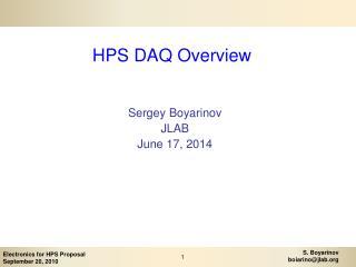 HPS DAQ Overview
