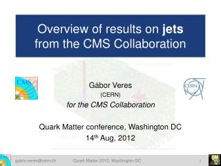 Overview of results on  jets from the CMS Collaboration