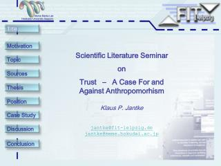 Scientific Literature Seminar on