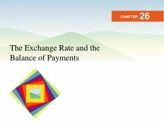 The Exchange Rate and the Balance of Payments