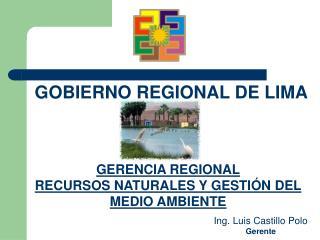 GERENCIA REGIONAL RECURSOS NATURALES Y GESTIÓN DEL MEDIO AMBIENTE