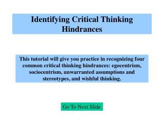 unwarranted assumptions critical thinking