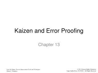 Kaizen and Error Proofing