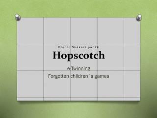 Czech: Skákací panák Hopscotch
