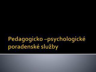 Pedagogicko  –psychologické poradenské služby