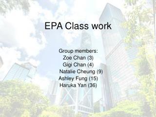 EPA Class work