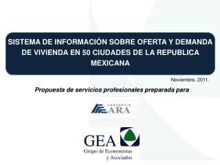 SISTEMA DE INFORMACIÓN SOBRE OFERTA Y DEMANDA DE VIVIENDA EN 50 CIUDADES DE LA REPUBLICA MEXICANA