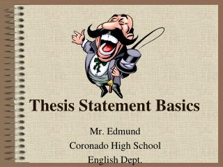 Thesis Statement Basics
