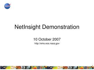NetInsight Demonstration